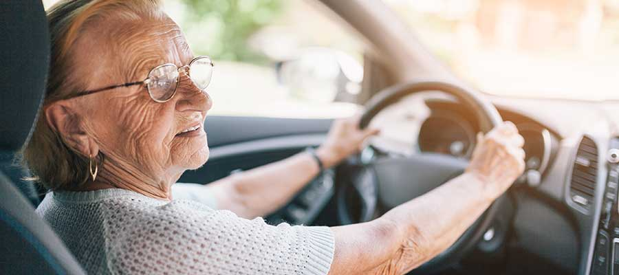 Elder Woman Driving